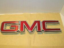 "Gmc General Motors Corporation Truck Emblem 17"" Long, 7 Clips, Red & Chrome Usa!"