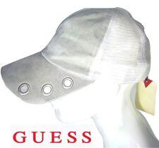 GUESS cappello visiera tipo baseball in pelle scamosciata grigio e bianco  nuovo 3a3fc3da17c4