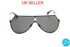 Black Ski Oversized Shield Sunglasses Futuristic Fashion Retro 80s Gaga Vintage
