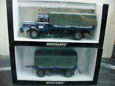 WOW EXTREMELY RARE Krupp Titan Truck+Trailer Set  Dachser 1:43 Minichamps-F8/860