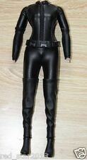 1/6 Scale Clothes Female Black Jumpsuit Leather Corsetry Black Widow Clothing