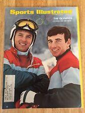 Vintage Sports Illustrated U.S. Skiers Kidd And Heuga On Cover February 5, 1968