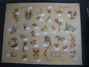 Vintage Parlor-used tattoo flash art ..11 x 14 in. Jack Rudy..1980...For Women