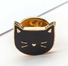 Black Cat Head Design Pins Brooch Clothes Bag Collar Pin Brooch Jewelry Gift