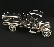 "2000 ERTL 1919 GMC TANKER TRUCK BANK ""TEXACO"" CHROME EDITION 1/28th SCALE-no box"