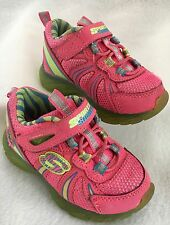 Skechers S Lights Glitzies Spark UPZ Sneakers Shoes Pink Light Up Toddlers Sz 5
