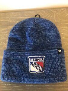 NEW YORK RANGERS Blue Knit Cuffed Beanie / Skull Cap '47 NHL NEW