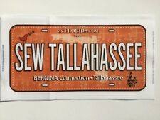 2018 Row by Row Experience Fabric License Plate - Sew Tallahassee - Florida
