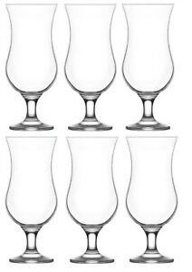 Large Cocktail Drinking Glasses. Pina Colada Glass. (Set of 6)  460 ml