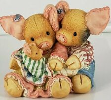 Enesco 1994 This Little Piggy Makes Three Figurine gy Mary Rhyner, #130931