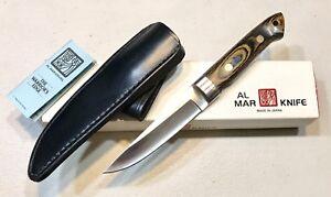 Vintage 1980' Al Mar 4101 Tanken APU Japan Dagger Knife W/Sheath Box Papers Mint