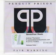(DL793) Penguin Prison, Fair Warning - 2011 DJ CD