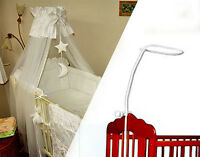HOLDER FOR BABY COT DRAPE CANOPY MOSQUITO ROD BAR CLAMP POLE COT BED