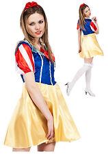 Snow White Fairy Tale Princess Lady Adult Fancy Dress Costume Medium UK 12 - 14