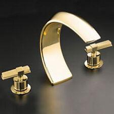 Kohler Alterna deck-mount high-flow bath tub faucet K-6502-4-PB Polished Brass