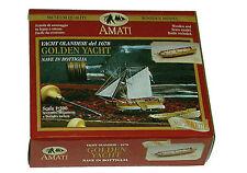 Amati Golden Yacht Wood Model Ship in a Bottle Kit