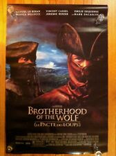 BROTHERHOOD OF THE WOLF 2001 1SH One Sheet Double Sided Rolled MOVIE POSTER