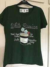 "TWISTED ENVY WHITE RUSSIAN COCKTAIL RECIPE BOTTLE GREEN T-SHIRT SIZE 36"" CHEST"