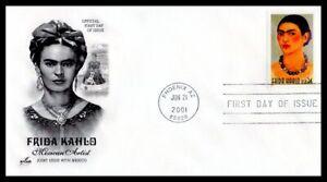 US FDC  # 3509 34c Frida Kahlo  ArtCraft  2001, 9g095