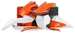 Polisport Set Plastique Complet Enduro Orange Blanc KTM 250 EXC 2014-16