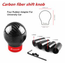 Black Real Carbon Fiber Car SUV Round Ball Manual Gear Shift Knob Shifter Stick