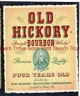 1940s PENNSYLVANIA Linfield OLD HICKORY Straight Bourbon Whiskey Label