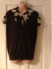BROWN TOP BY NEW LOOK, SIZE 16