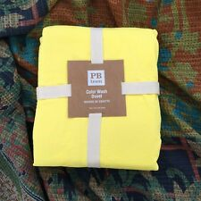 Pottery Barn Teen twin color wash Duvet Cover only bright yellow