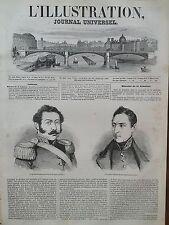 LA ILUSTRACIÓN 1846 No 200 GENERAL BORGONO y GENERAL MANUEL BULNES : CHILI