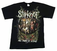 Slipknot All Hope Is Gone 2009 Tour QC-OH Black T Shirt New Official Band Merch