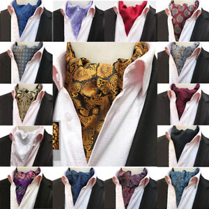 Men's Stylish Paisley Floral Scarves Cravat Ascot Party Wedding Classic Neckties