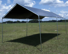 10' x 20' Heavy Duty Canopy Kit Set Car Boat Carport Garage Tent Shelter Silver