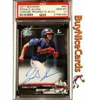 2017 Ronald Acuna Jr. Bowman Chrome RC Rookie Auto #RA PSA 10 Gem Mint