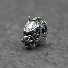 Sterling Silver 925  Dragon Head Bracelet Necklace Connector Charm Beads Charm