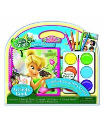 Disney fairies fairy chipboard Activity Lapdesk With Jumbo Paints By Bendon