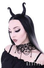 Restyle Diabolical Headband Maleficent Horns Gothic Black Headpiece Occult Hair
