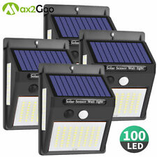 100 LED Solar Lights PIR Motion Sensor Outdoor Wall Lamp Garden Waterproof Light