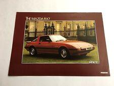 1981 1982 Mazda Rx7 UK 1-page Original Car Sales Brochure Card