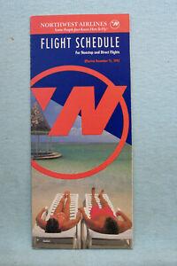 Northwest Airlines Timetable - Dec 15, 1992