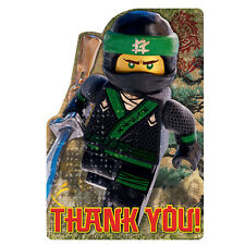 LEGO NINJAGO MOVIE THANK YOU NOTES (8) ~ Birthday Party Supplies Stationery Card