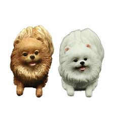 Pomeranian Dog Figurine Model Home/Car Dashboard Ornament Decor Gift