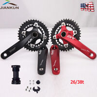 Bicycle Crankset 10Speed 104BCD 26/38T Chainset Double Sprocket 170mm Crank BB
