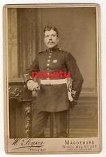 Foto Portrait CDV infantería regimiento 66 Magdeburg con orden y Degen Pio a. a.