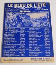 Partition sheet music JACQUES HELIAN : Le Bleu de l'Eté * 60's Film ALAMO