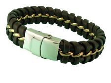Leather Bracelet Stainless Steel Magnetic Clasp 15MM Width Premium Quality Range