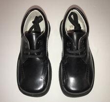 PETIT SHOES SPAIN NEW BLACK PATENT LEATHER LACE SQUARE TOE BOYS DRESS SHOES SZ.9