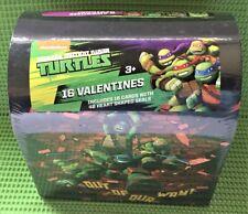 Teenage Mutant Turtles Valentines with Mailbox - Set of 16 Valentines with Envel