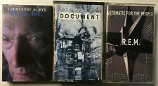 Lot of 3 R.E.M. Cassettes: Document, Automatic for the People, Everybody Hurts