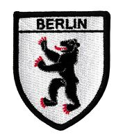 Patche écusson BERLIN Ours brodé blason patch thermocollant armoiries