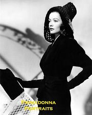 GENE TIERNEY 8x10 B&W Lab PHOTO 1940's DIVINE GLAMOUR DOLL POSE Beautiful Actres